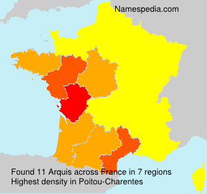Surname Arquis in France