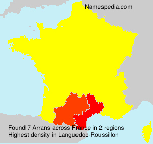 Surname Arrans in France