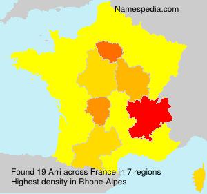 Familiennamen Arri - France