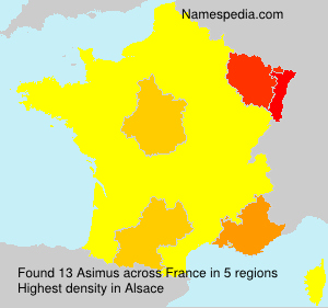 Surname Asimus in France