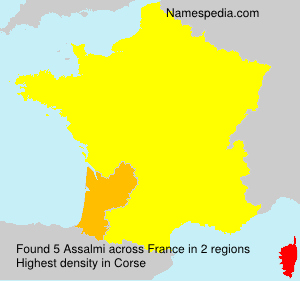 Surname Assalmi in France