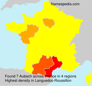 Surname Aubach in France