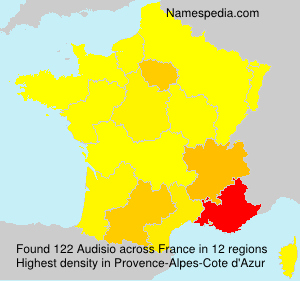Surname Audisio in France