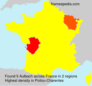 Surname Aulbach in France