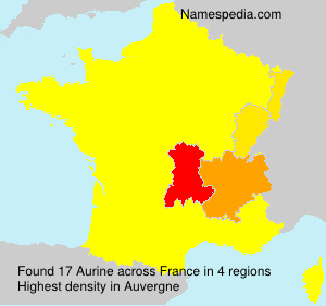 Surname Aurine in France