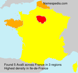 Surname Avalli in France