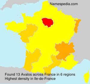 Familiennamen Avalos - France