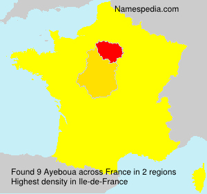 Surname Ayeboua in France