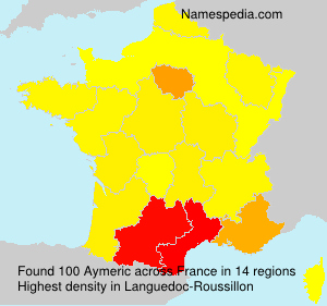 Surname Aymeric in France