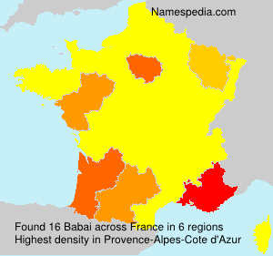Surname Babai in France