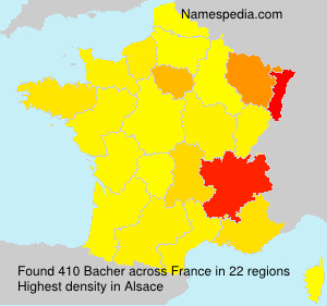 Surname Bacher in France