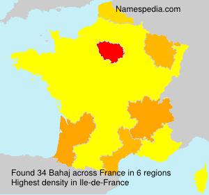 Familiennamen Bahaj - France