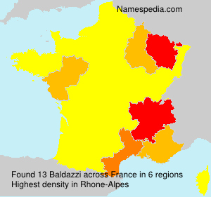 Surname Baldazzi in France