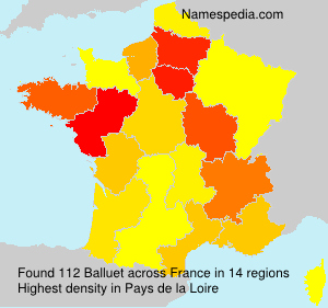 Surname Balluet in France