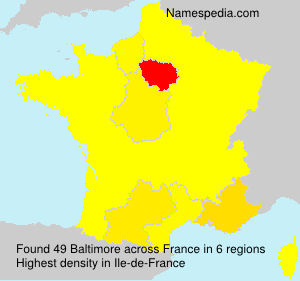 Surname Baltimore in France