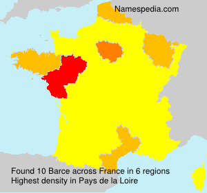 Surname Barce in France