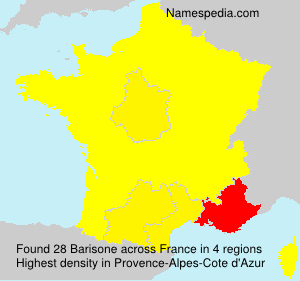 Surname Barisone in France