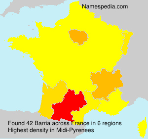 Surname Barria in France