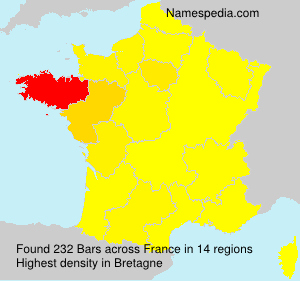 Surname Bars in France
