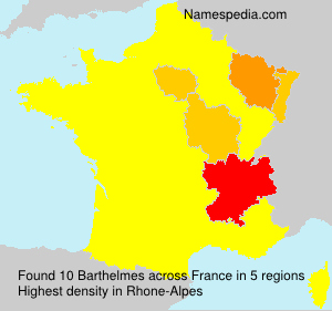 Surname Barthelmes in France