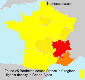 Surname Barthelon in France