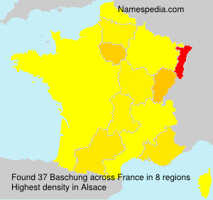 Surname Baschung in France
