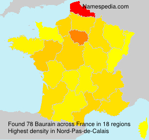 Surname Baurain in France