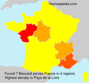 Surname Beccard in France