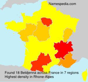 Surname Beldjenna in France