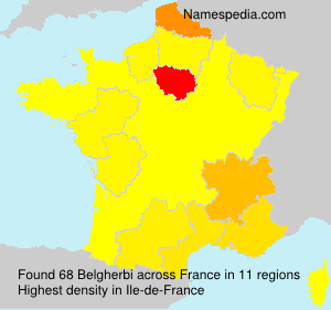 Surname Belgherbi in France