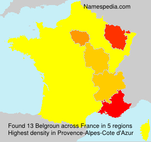 Surname Belgroun in France