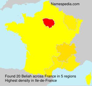 Familiennamen Beliah - France