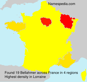 Surname Bellahmer in France