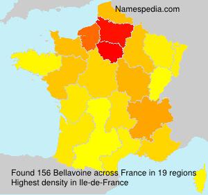 Familiennamen Bellavoine - France