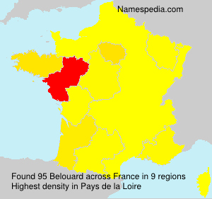 Surname Belouard in France