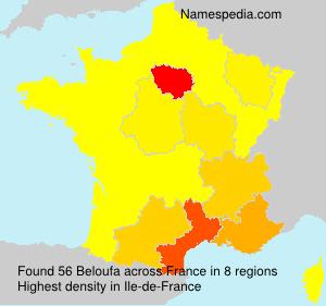 Surname Beloufa in France