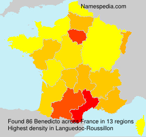 Surname Benedicto in France