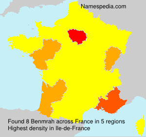 Surname Benmrah in France