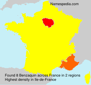Surname Benzaquin in France