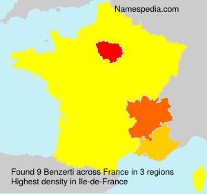 Surname Benzerti in France