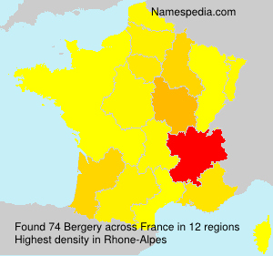 Surname Bergery in France