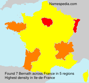 Surname Bernath in France