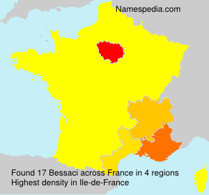 Surname Bessaci in France