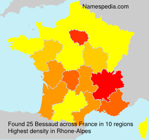 Surname Bessaud in France