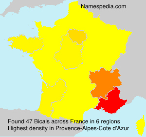 Surname Bicais in France