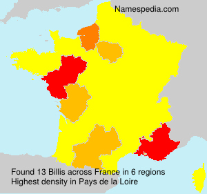 Surname Billis in France