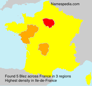 Surname Blez in France