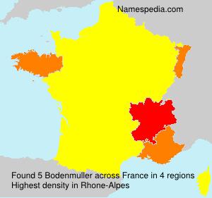 Surname Bodenmuller in France