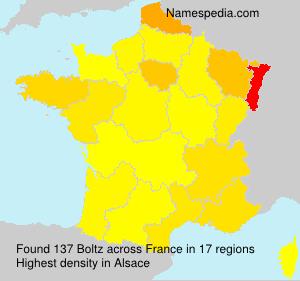 Surname Boltz in France
