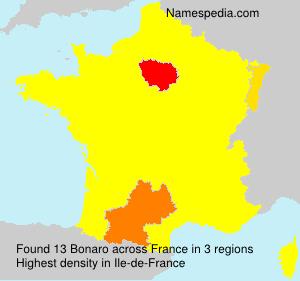 Surname Bonaro in France